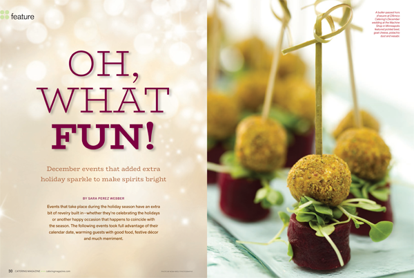 Albrecht Events Featured in Catering Magazine